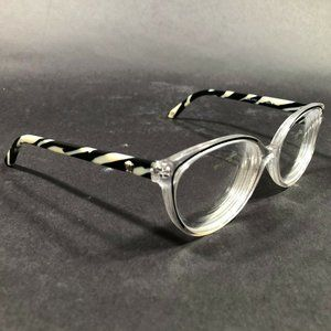 Versace Medusa Head Round Cats Eye Clear Frames